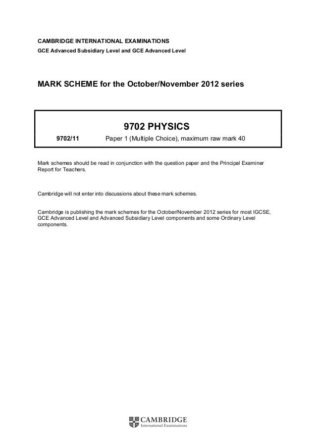 Physics 0625 paper 2 version 2 mark scheme may jun 2014.
