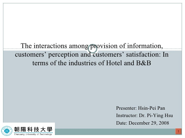 Presenter: Hsin-Pei Pan  Instructor: Dr. Pi-Ying Hsu Date: December 29, 2008 The interactions among provision of informati...