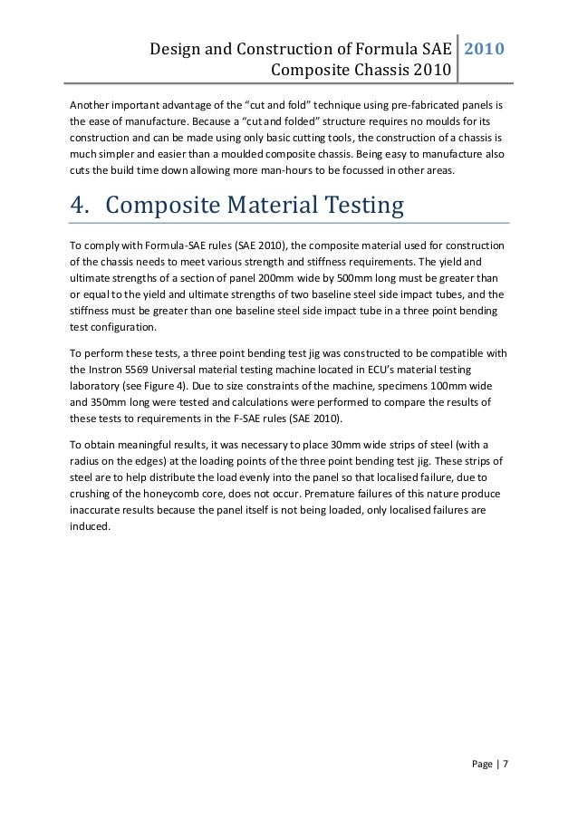 """Design and Construction of Formula SAE Composite Chassis 2010 2010 Page 