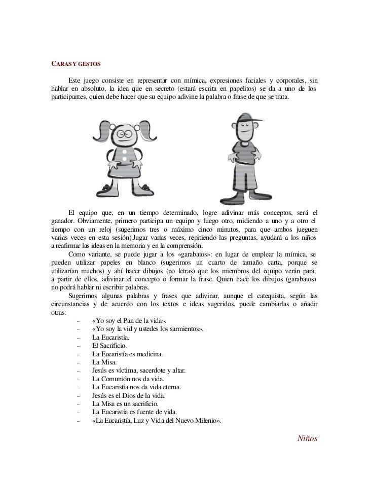 Dinámicas para niños: La Eucaristía...