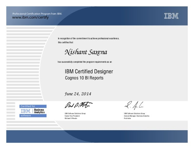 Ibm Certification Cognos 10 Bi Reports