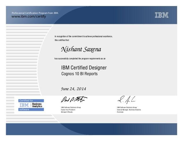 IBM Certification Cognos 10 BI Reports