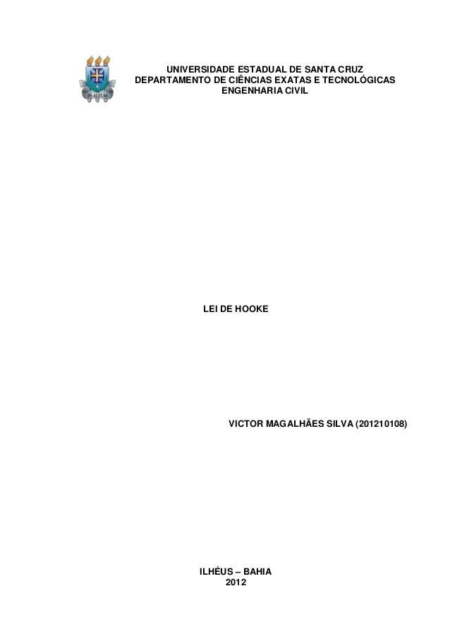 UNIVERSIDADE ESTADUAL DE SANTA CRUZDEPARTAMENTO DE CIÊNCIAS EXATAS E TECNOLÓGICAS               ENGENHARIA CIVIL          ...