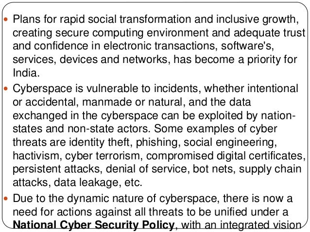 National Cyber Security Policy 2013