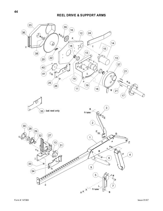 Macdon 973 hh and 974 fd parts catalog