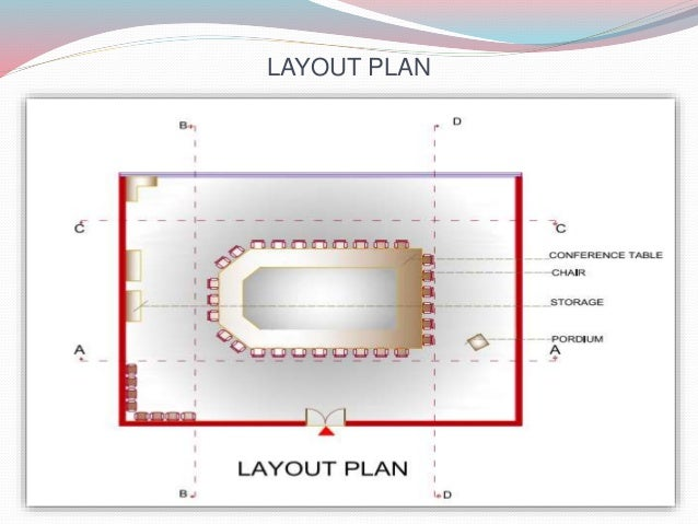 CONFERENCE ROOM - Conference table layout