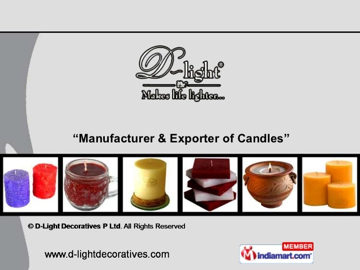"""""""Manufacturer & Exporter of Candles"""""""
