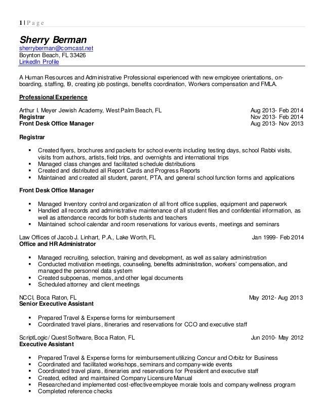 sherry berman professional resume
