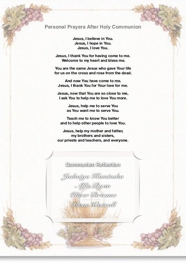 Communion Booklet