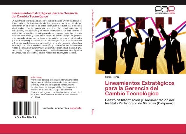 REPÚBLICA BOLIVARIANA DE VENEZUELA.UNIVERSIDAD PEDAGÓGICA EXPERIMENTAL LIBERTADOR.LINEAMIENTOS ESTRATÈGICOS PARA LA GERENC...