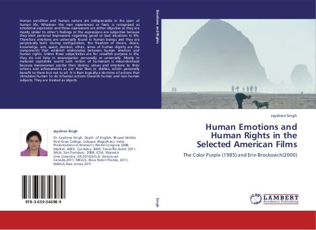 The Theme of 'Human Emotions and Human Rights: The Narrative Structure in the Selected American Films' – The Color Purple ...