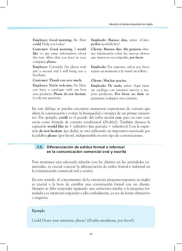Ingles Profesional Para Actividades Comerciales