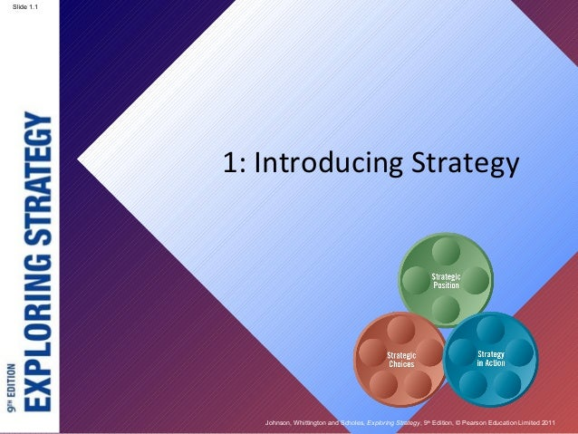 Johnson, Whittington and Scholes, Exploring Strategy, 9th Edition, © Pearson Education Limited 2011 Slide 1.1 1: Introduci...