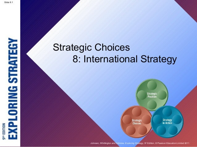 Slide 8.1 Johnson, Whittington and Scholes, Exploring Strategy, 9th Edition, © Pearson Education Limited 2011 Slide 8.1 St...