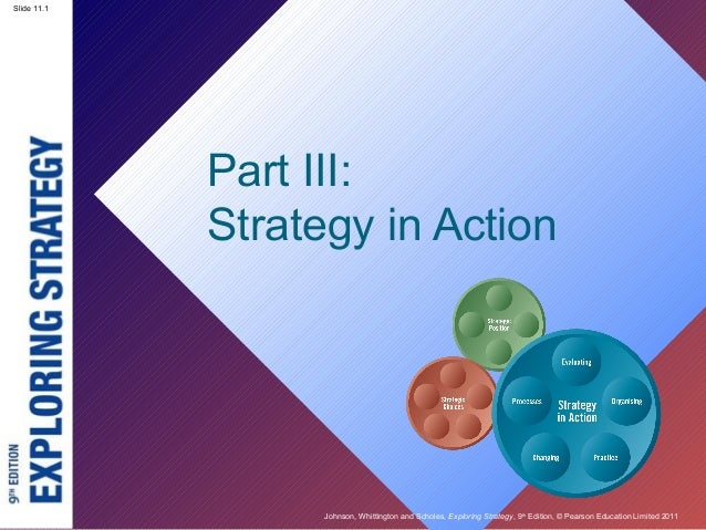 Slide 2.1 Johnson, Whittington and Scholes, Exploring Strategy, 9th Edition, © Pearson Education Limited 2011 Slide 11.1 P...