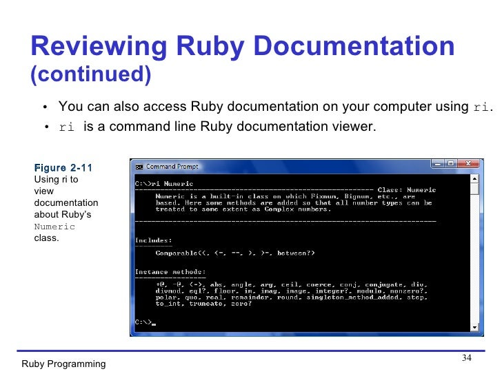 34. Reviewing Ruby Documentation ...