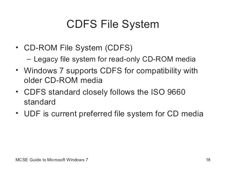 Guide to Windows 7 - Managing File Systems