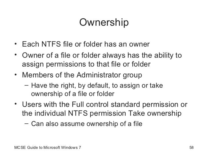 how to take ownership of any file in windows 7