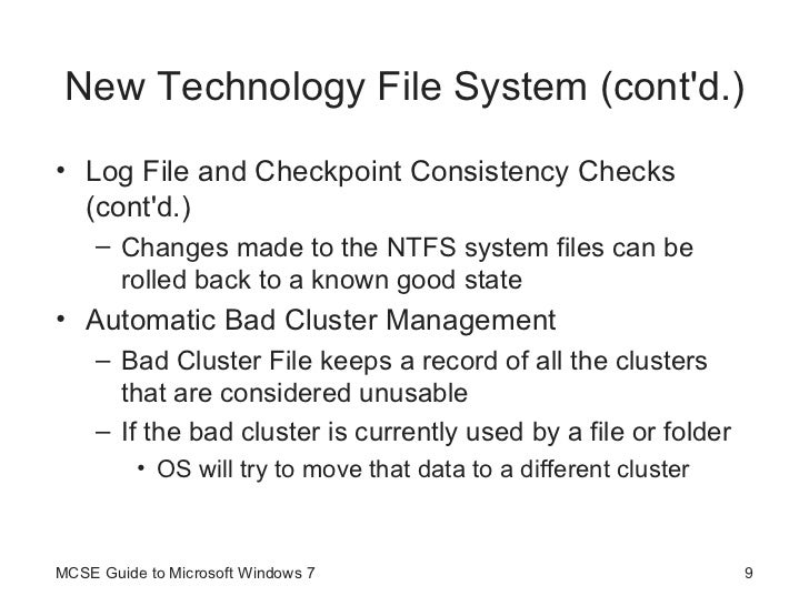 Guide To Windows 7 Managing File Systems