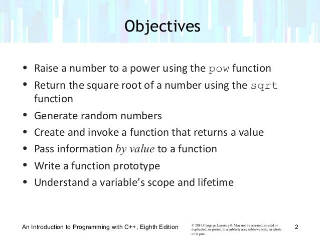Chapter 9 Value-Returning Functions