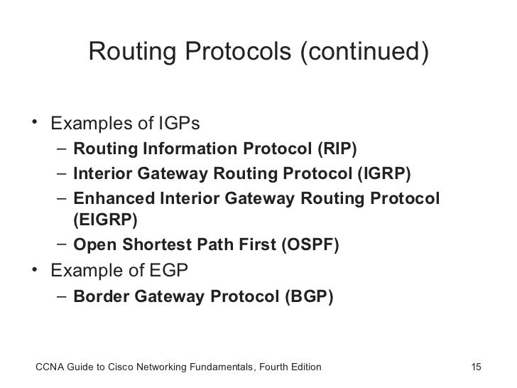 Ccna Routing Protocols