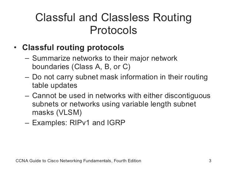 CCNA Advanced Routing Protocols Slide 3