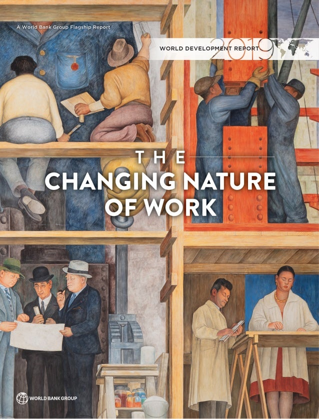 "cover of ""The Changing Nature of Work,"" the World Bank 2019 annual report"