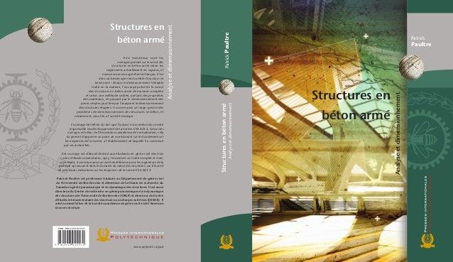 Patrick Paultre PatrickPaultreStructuresenbétonarmé Analyseetdimensionnement Structures en béton armé Analyseetdimensionne...