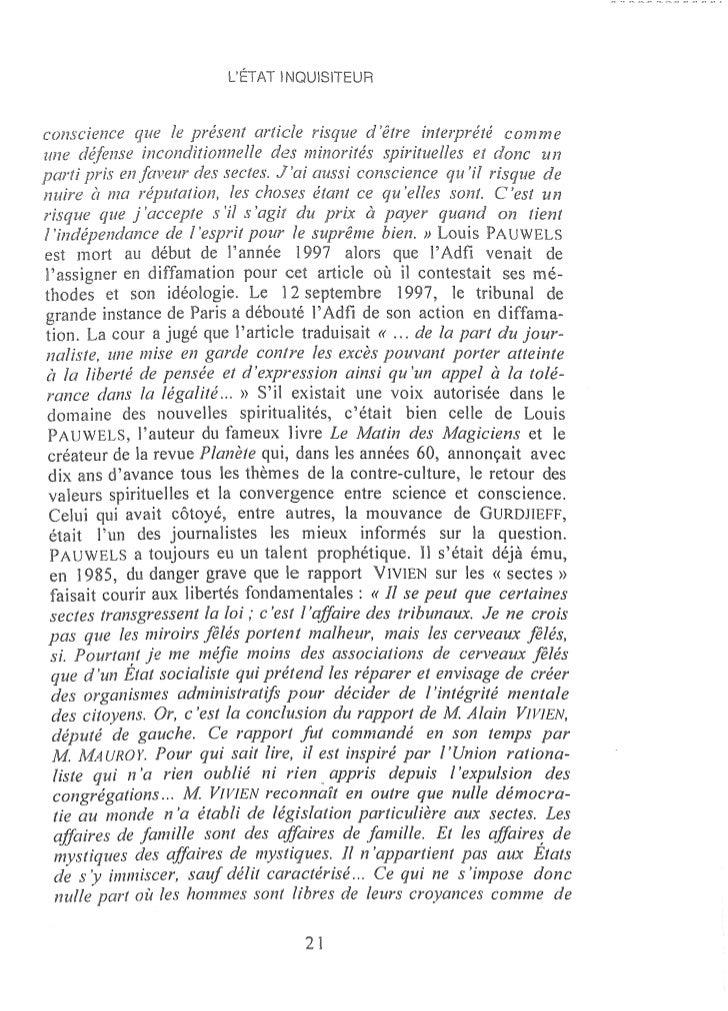LÉTAT ~     ISITEURdans le dos en lisant [es informations contenues dans ce livre sur lafaçon dont aujourd~hui, en France,...