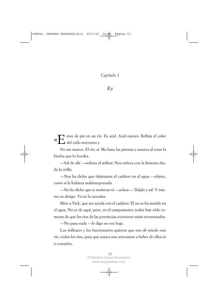 JUNTOS. CAMINOS CRUZADOS(3L)2   25/1/12    12:56    Página 13                                           Capítulo 1        ...