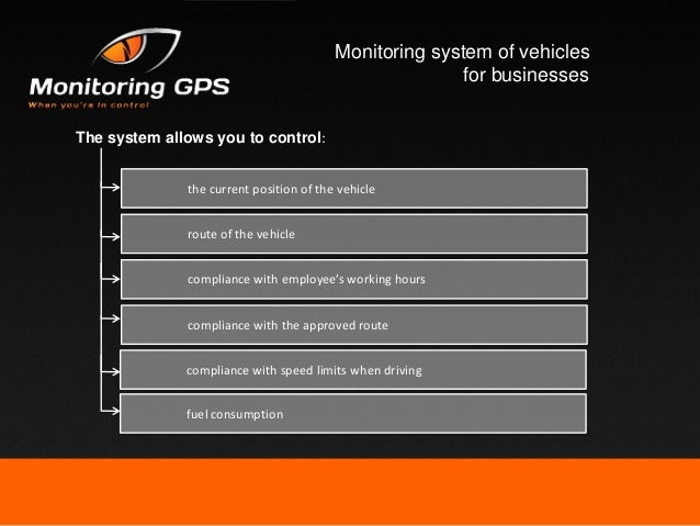 Monitoring system of vehicles for enterprises