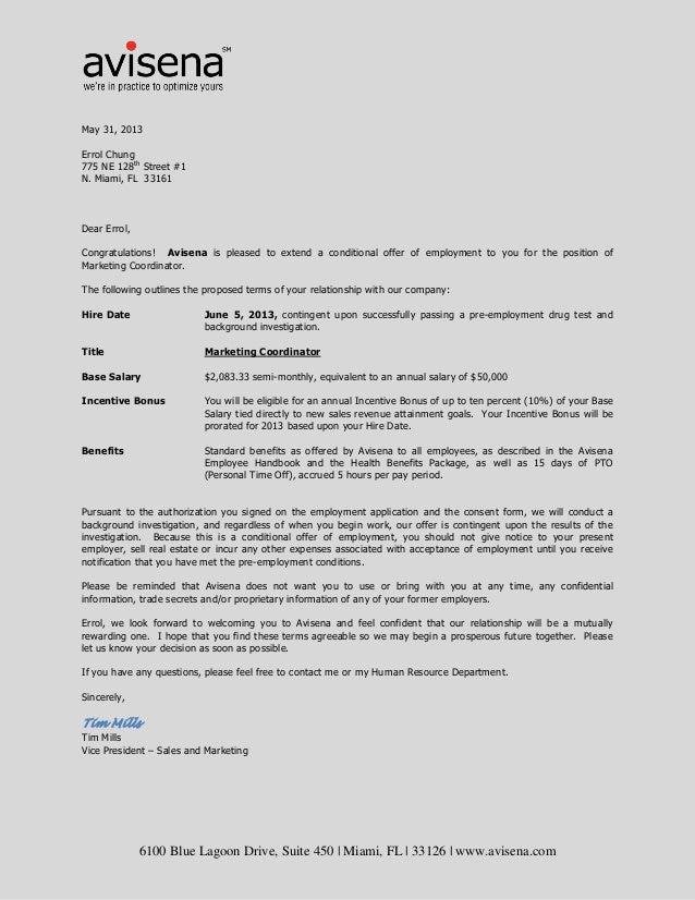 Errol Chung Avisena Offer Letter