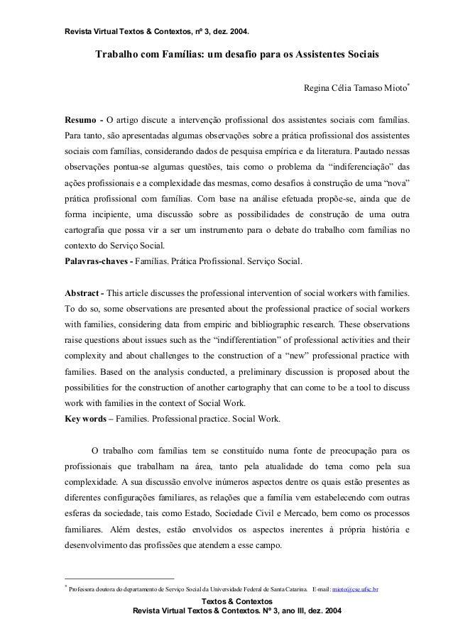 Revista Virtual Textos & Contextos, nº 3, dez. 2004. Textos & Contextos Revista Virtual Textos & Contextos. Nº 3, ano III,...