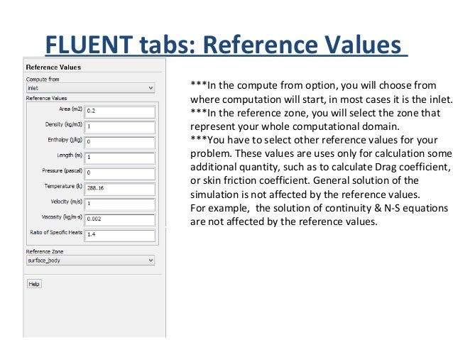 FLUENT tabs: Solution Methods ***Here you will select the solution method you want to use. Each method has it's own benefi...