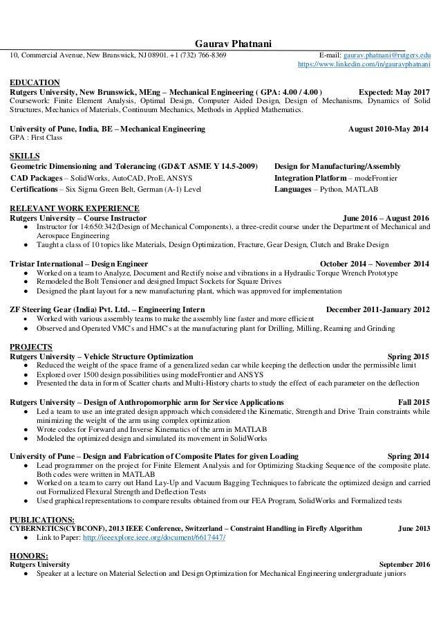 Gaurav Phatnani Resume