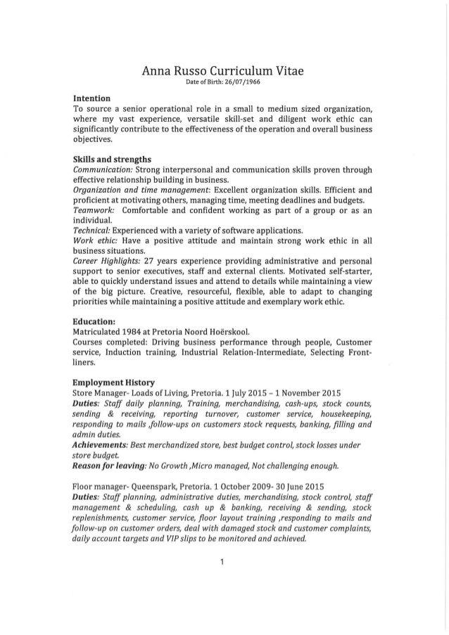 ANNA RUSSO CV PDF