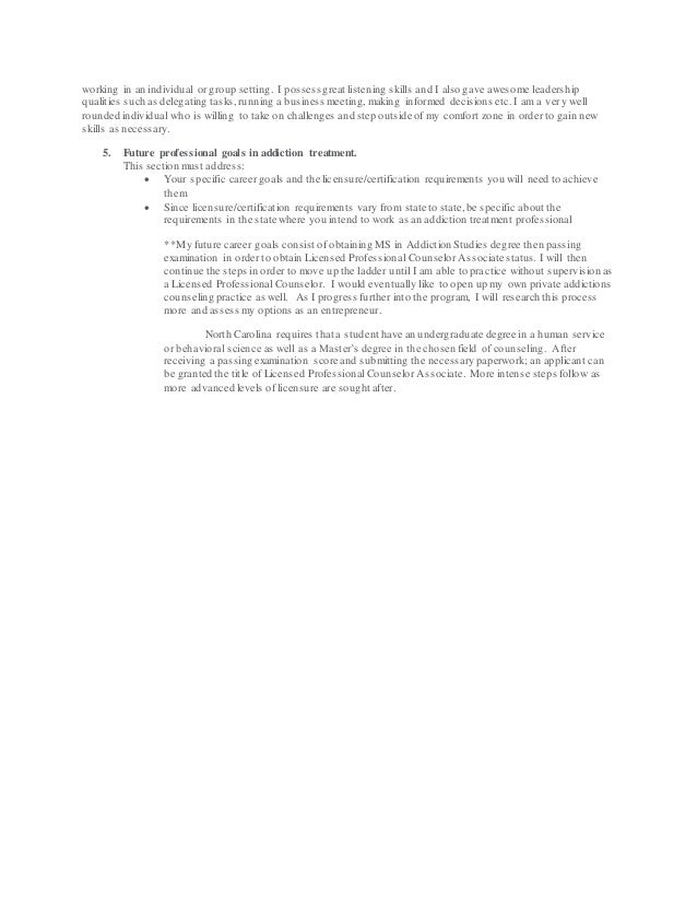 Capella Extended Goal Statement