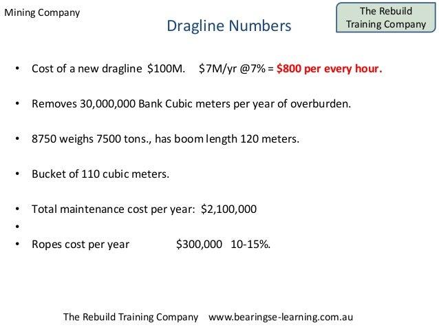 Mining Company The Rebuild Training Company The Rebuild Training Company www.bearingse-learning.com.au Dragline Numbers • ...