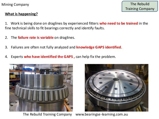 Mining Company The Rebuild Training Company The Rebuild Training Company www.bearingse-learning.com.au What is happening? ...