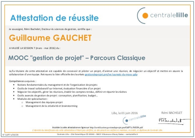 attestation de r u00e9usite mooc destion de projet
