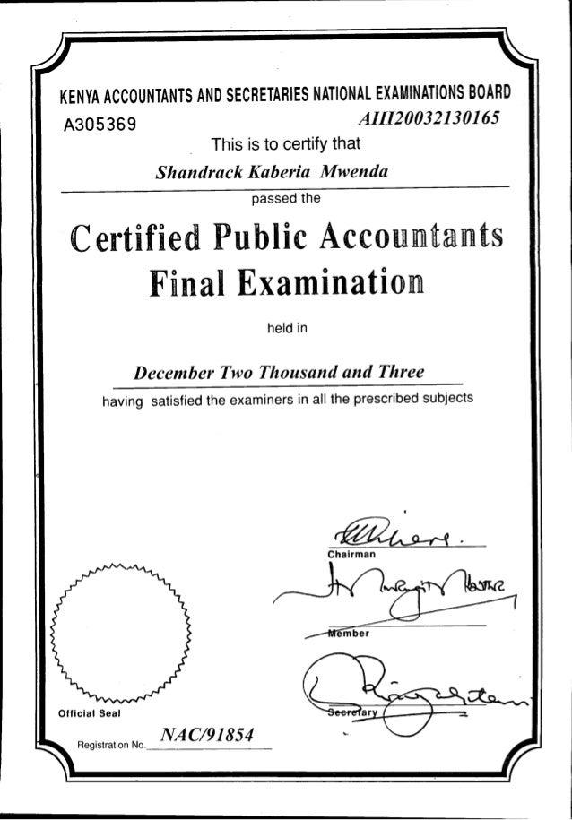 Cpa Certificates