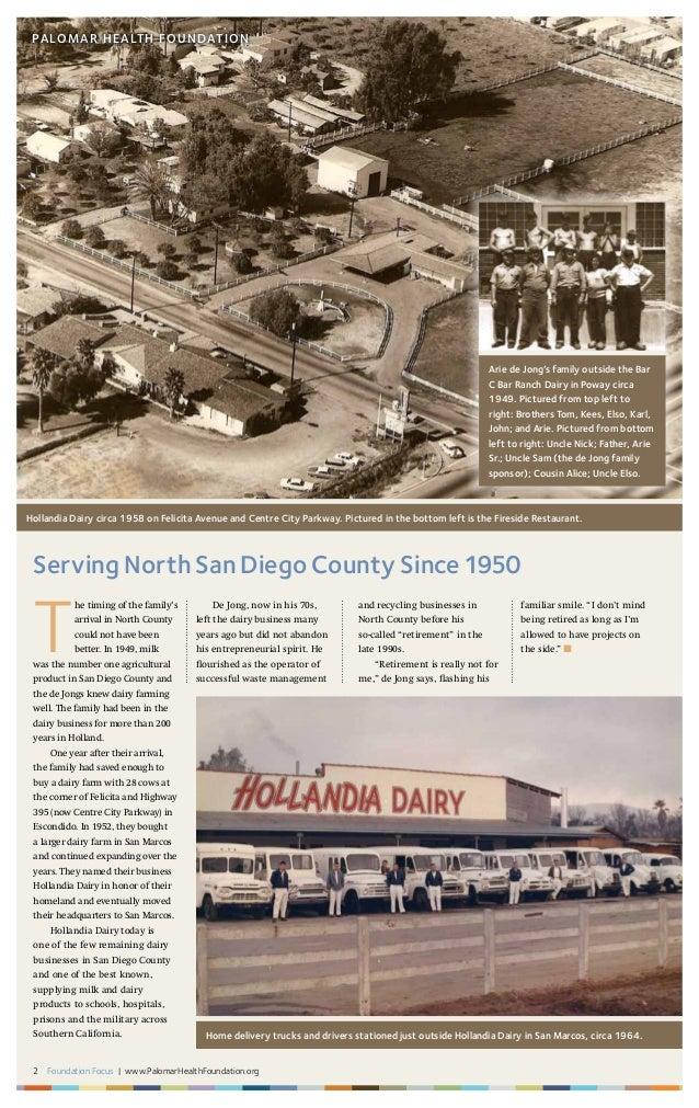 2 Foundation Focus | www.PalomarHealthFoundation.org PALOMAR HEALTH FOUNDATION Serving North San Diego County Since1950 T ...