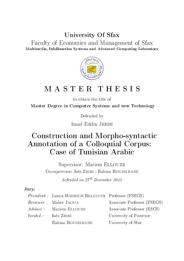 Master thesis dict