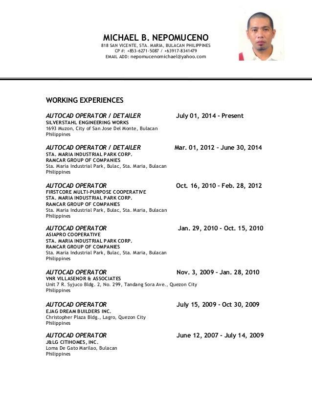 Michael B Nepomuceno Resume 2015
