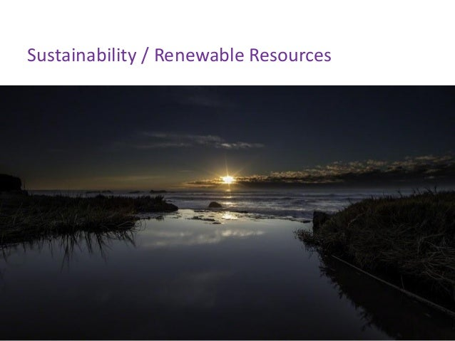 Sustainability / Renewable Resources