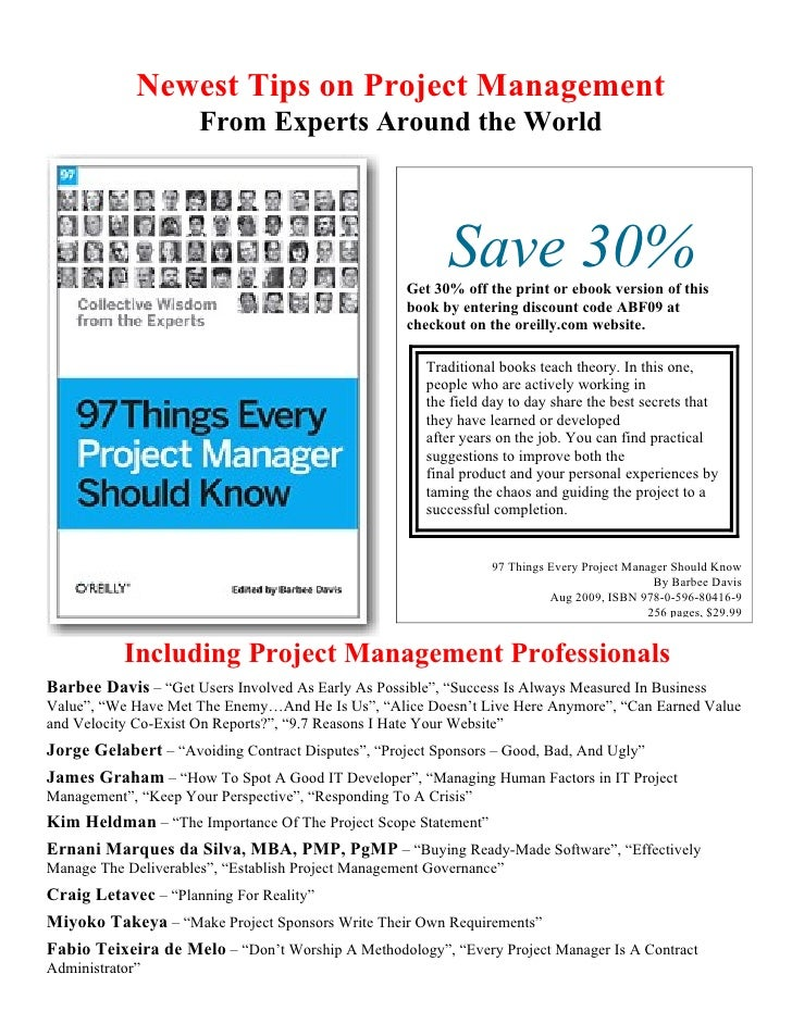 Newest Tips on Project Management                       From Experts Around the World                                     ...