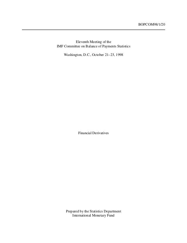 BOPCOM98/1/20 Eleventh Meeting of the IMF Committee on Balance of Payments Statistics Washington, D.C., October 21–23, 199...