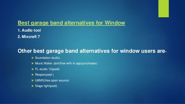 Best garage band alternatives for windows and mac