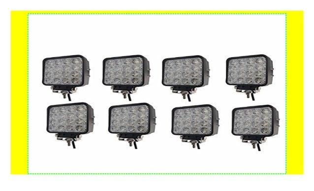 48W LED Arbeitsscheinwerfer Offroad Scheinwerfer Zusatzscheinwerfer Traktor Jeep