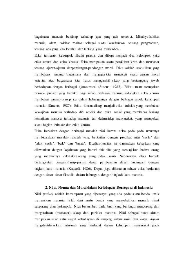 98095193 Pancasila Sebagai Sistem Etika Dalam Kehidupan Berbangsa Dan